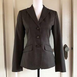 ANN TAYLOR - Brown Classic Blazer Jacket 2 / XS